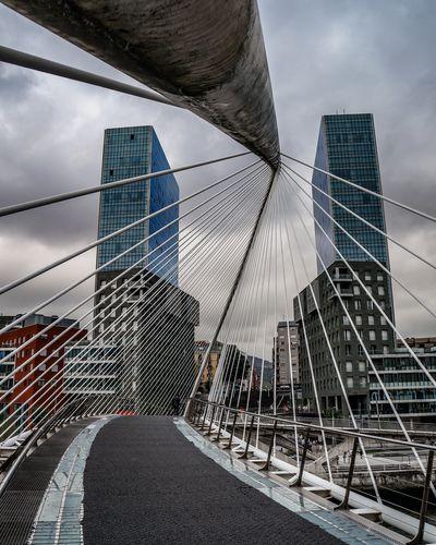 Details of the bridge in Bilbao