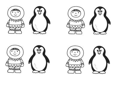 eskimo pinguin, kleuteridee.nl, free printable .