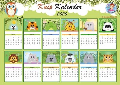 knipkalender 2020, kleuteridee