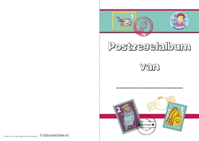 postzegelalbum, kleuteridee, free printable