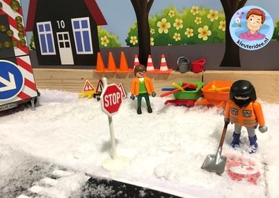 Thematafel sneeuw winter voor kleuters, kleuteridee 3