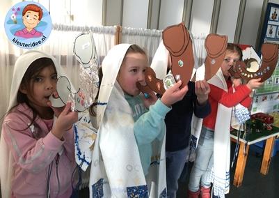sjofar knutselen met kleuters, kleuteridee, thema Israel 4
