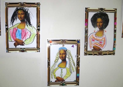 Mona Lisa, thema kunst voor kleuters, kleuteridee.nl , Art theme preschool 5.