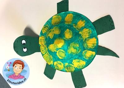 schildpad knutselen, kleuteridee, met gratis download 2