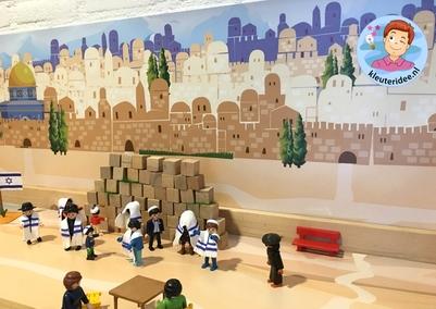 Thematafel Israel voor kleuters, kleuteridee, Kindergarten Israel theme .
