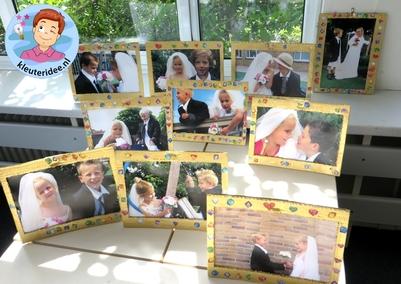Kleuters maken een gouden lijst voor hun bruidsfoto 3, kleuteridee.nl, thema fotograaf, Kindergarten Photgrapher theme.