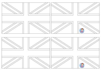 Engelse vlag, UK flag craft, kleuteridee