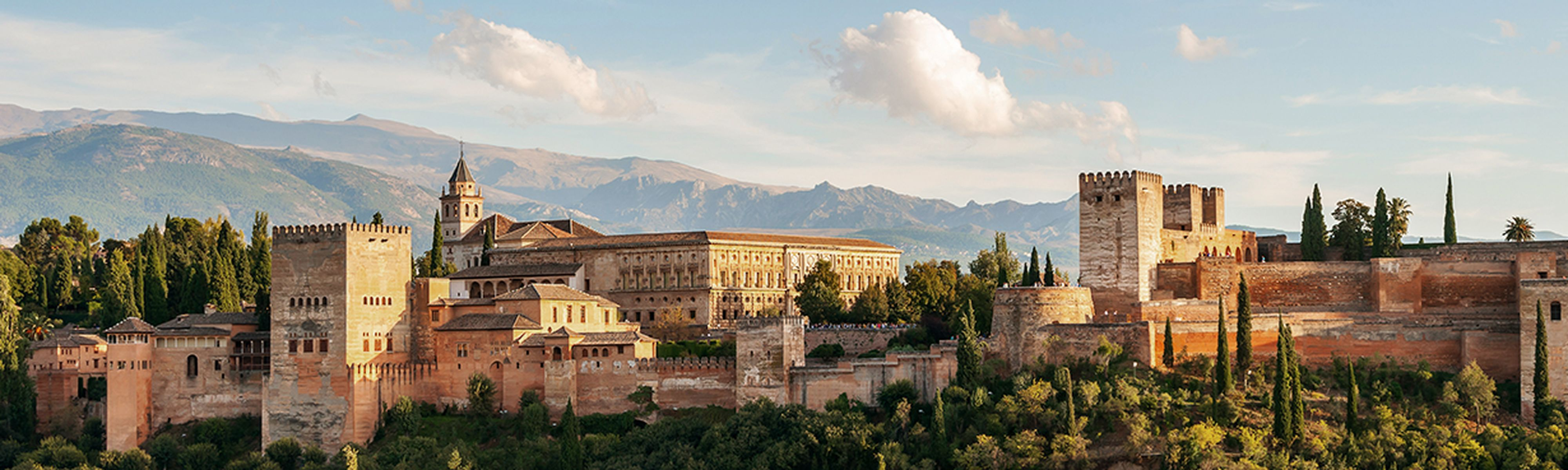 Alhambra of Granada, Spain on sunny day