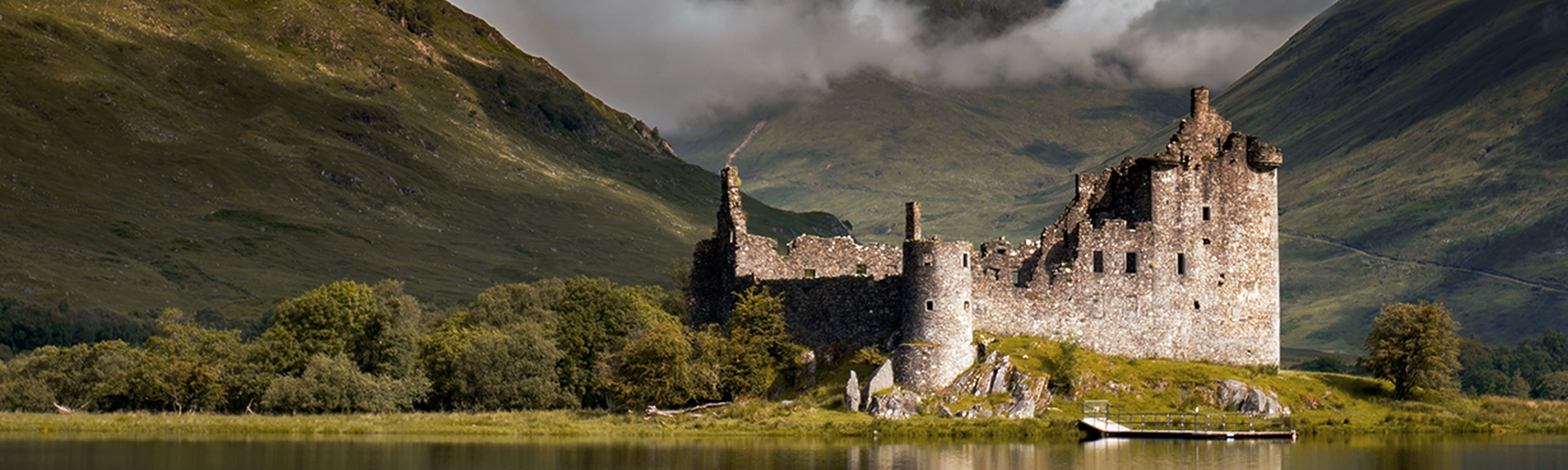 Kilchurn Castle in Loch Awe, Highlands, Scotland