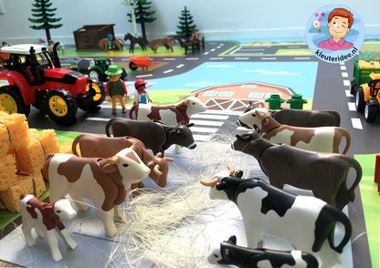 Speelmat boerderij, kinderspeelmat, kleuteridee, vloermat