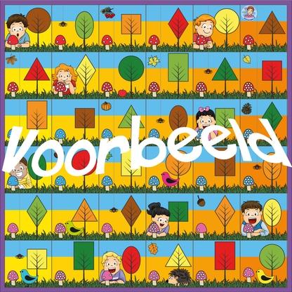 Bee-Bot mat herfst, kleuteridee, rekenen en taal