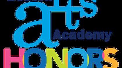 A colorful Boston Arts Academy Honors logo.