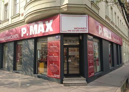 P.MAX Schaufenster 1150 Wien.
