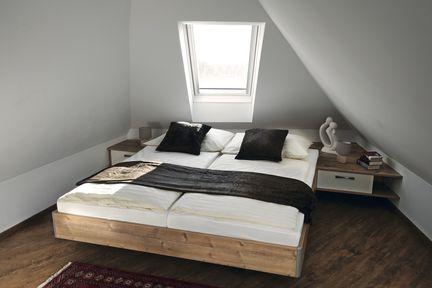 Schlafzimmer im Dachgeschoss.