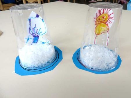 Snowglobe met eskimo 1, kleuteridee.nl , thema Noordpool & Zuidpool voor kleutersSnowglobe met eskimo 1, kleuteridee.nl , thema Noordpool & Zuidpool voor kleuters