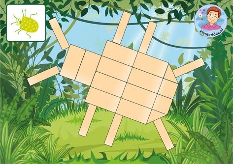 Bouwkaarten insecten 8 klein