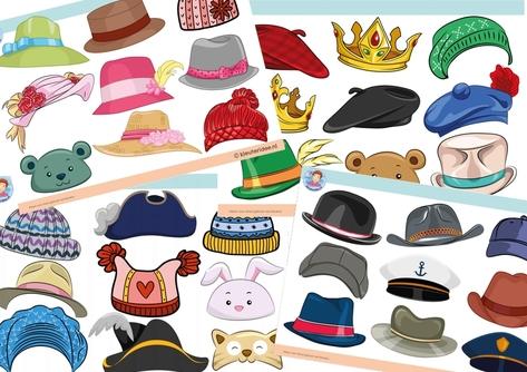 hoeden, kleuteridee.