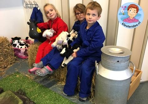 kalfjes knuffelen in de tehmahoe, kleuteridee, thema de koe