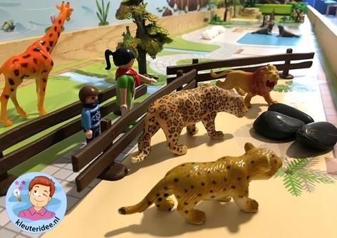 Speelmatten dierentuin, kleuteridee 6.