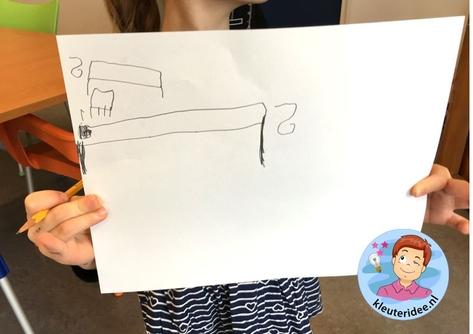 Meten met een el, kleuteridee, Kindergarten measure math.