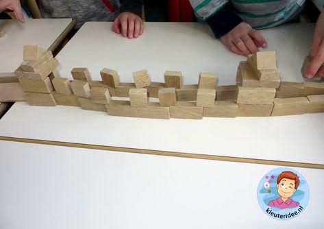 Chinese muur bouwen met blokken 2, thema China voor kleuters, kleuteridee