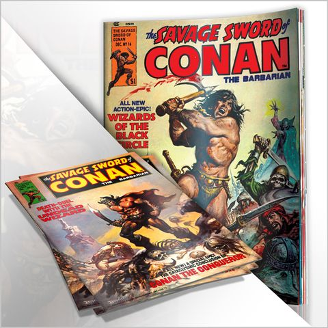 CLASSIC SAVAGE SWORD OF CONAN (B/W)
