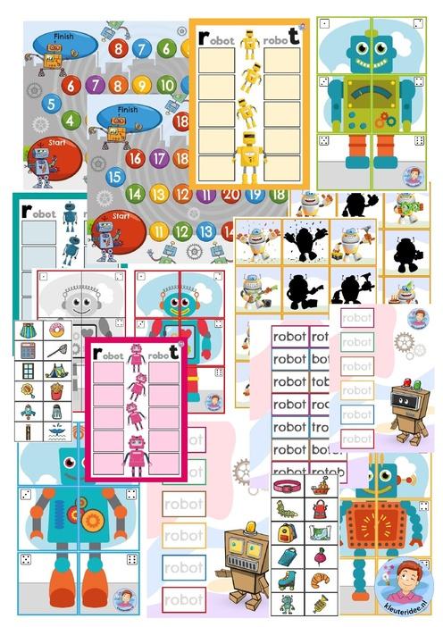 Alle spellen, thema Robot, kleuteridee