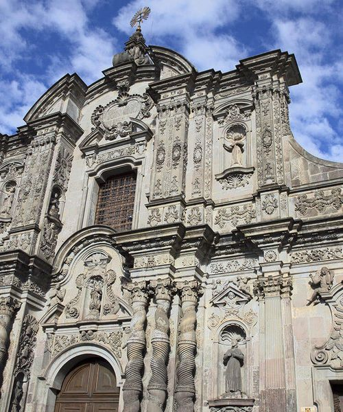 church of the jesuits in quito ecuador
