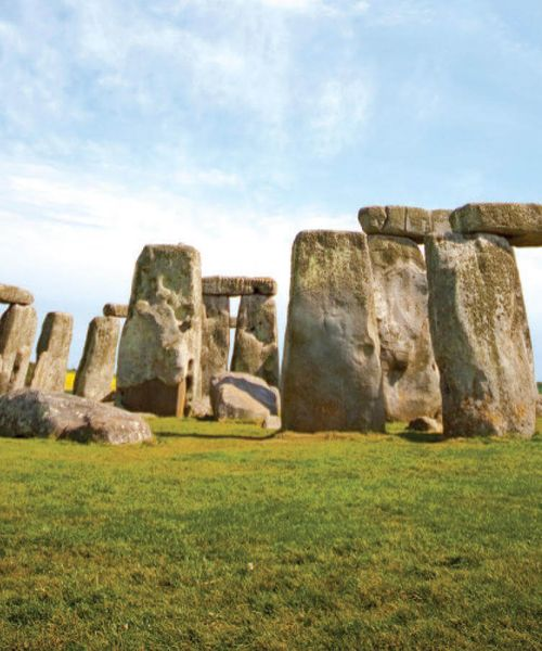 stonehenge in england on a sunny day