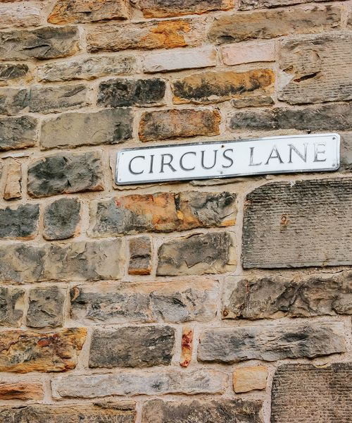 a street sign for circus lane in edinburgh scotland