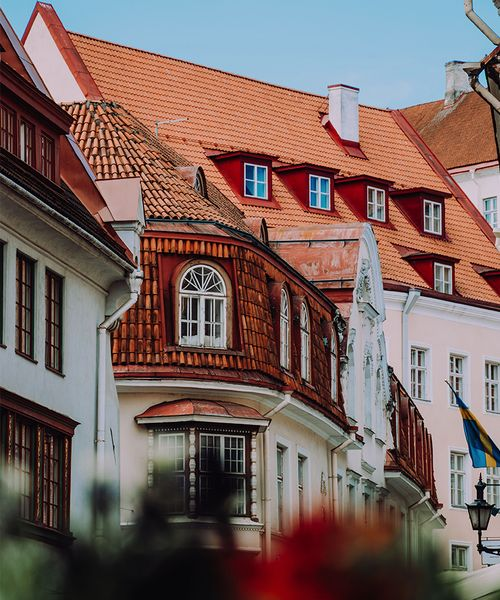 Buildings of the Old Town in Tallinn Estonia