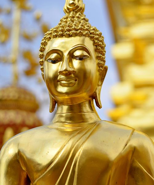 Golden buddhist statue in Thailand