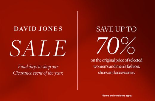 David Jones Further Markdowns