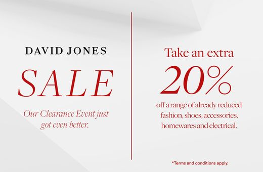 David Jones Clearance: Take An Extra 20% Off