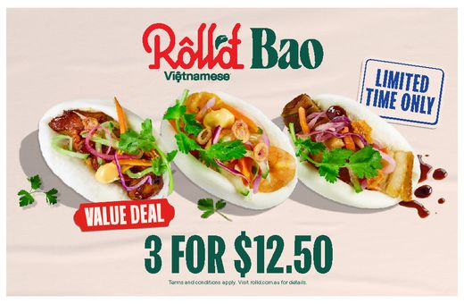 Roll'd Vietnamese 3 FOR $12.50 BAO VALUE DEAL