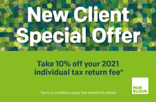 H&R Block New Client Special Offer