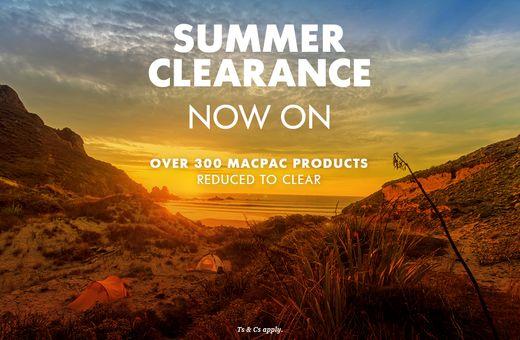 Macpac Summer Clearance