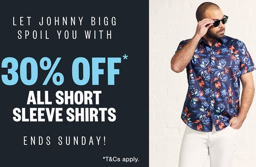 Johnny Bigg's Short Sleeve Shirts Sale
