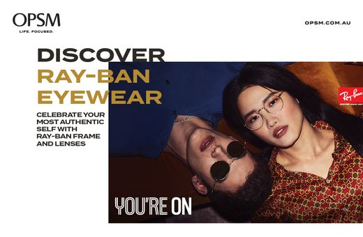 OPSM's Ray Ban Frame and Lenses Offer