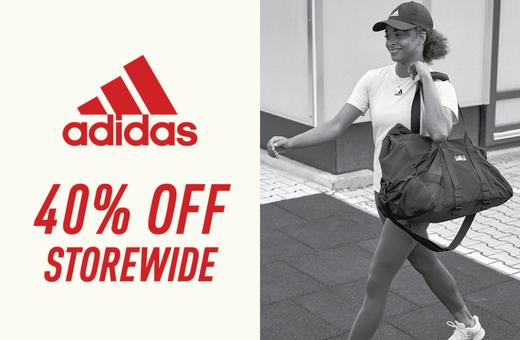 Adidas: 40% off storewide!