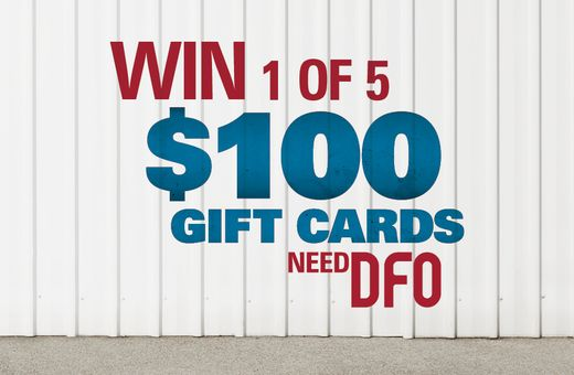 WIN 1 Of 5 $100 GIFT CARDS