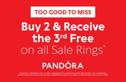 Exclusive offer at Pandora
