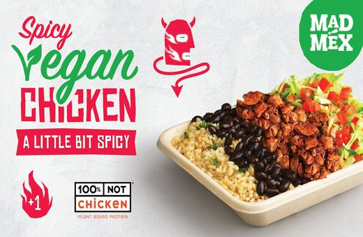 Spicy Vegan Chicken at Mad Mex