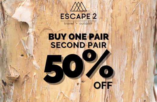 Buy one pair, second pair 50% off KEEN and OluKai Footwear