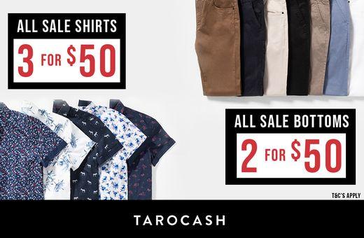 Tarocash's Shirts and Bottoms Sale