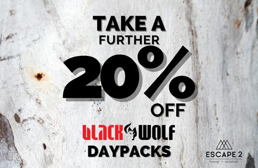 Take a further 20% off BlackWolf daypacks
