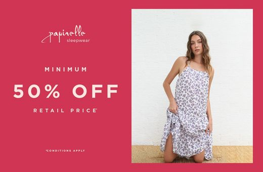 Papinelle Sleepwear: Minimum 50% Off Selected Styles