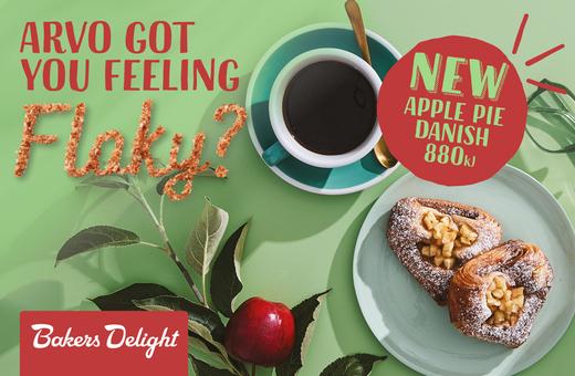 Bakers Delight NEW Apple Pie Danish