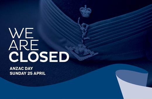 We are closed this ANZAC Day