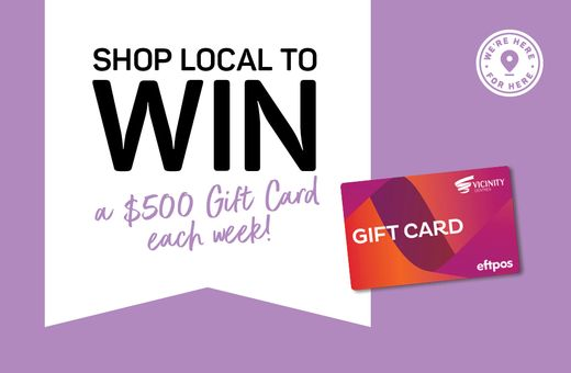 Shop local for your chance to win a $500 Gift Card!